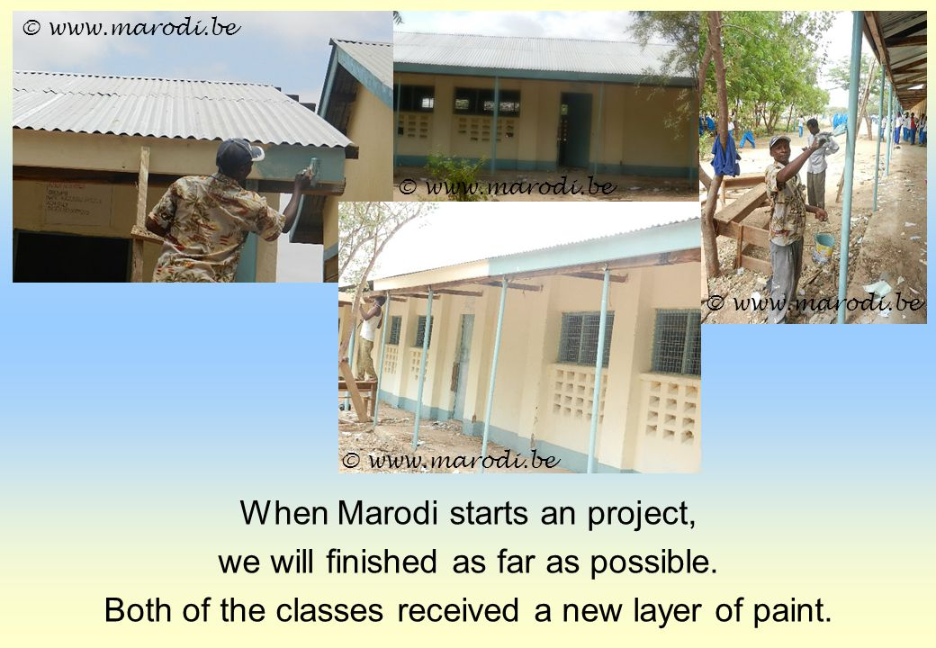 When Marodi starts an project, we will finished as far as possible.
