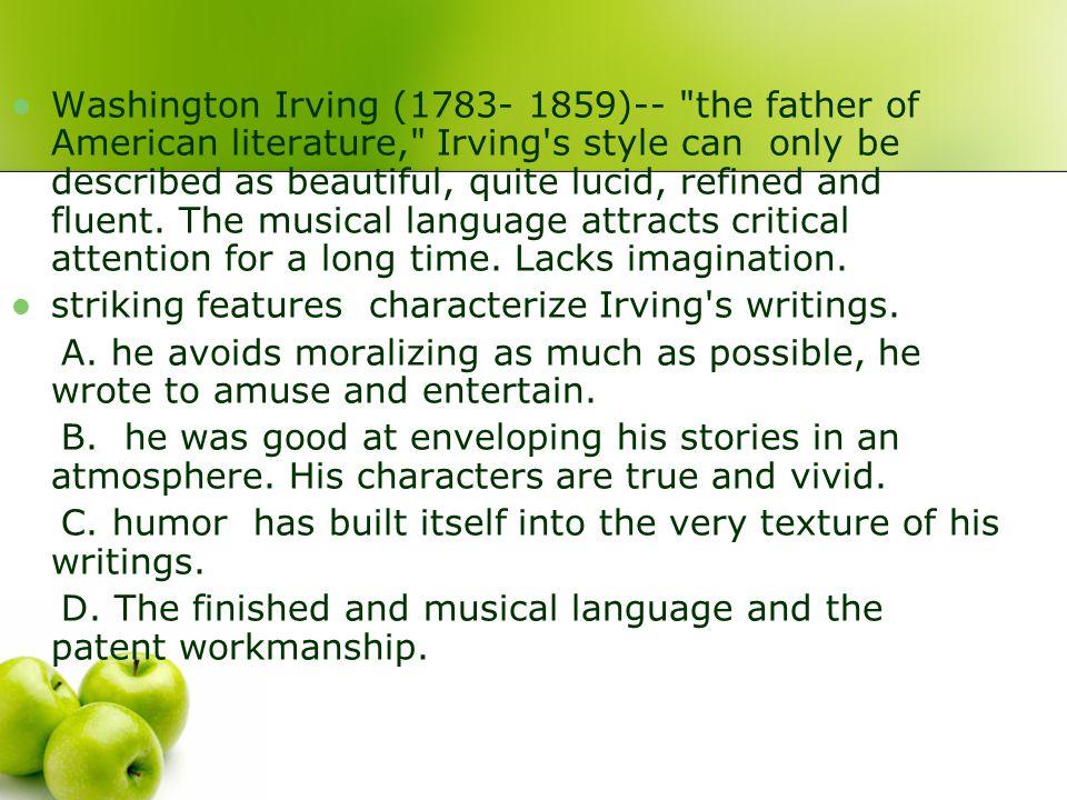 Washington Irving (1783- 1859)--
