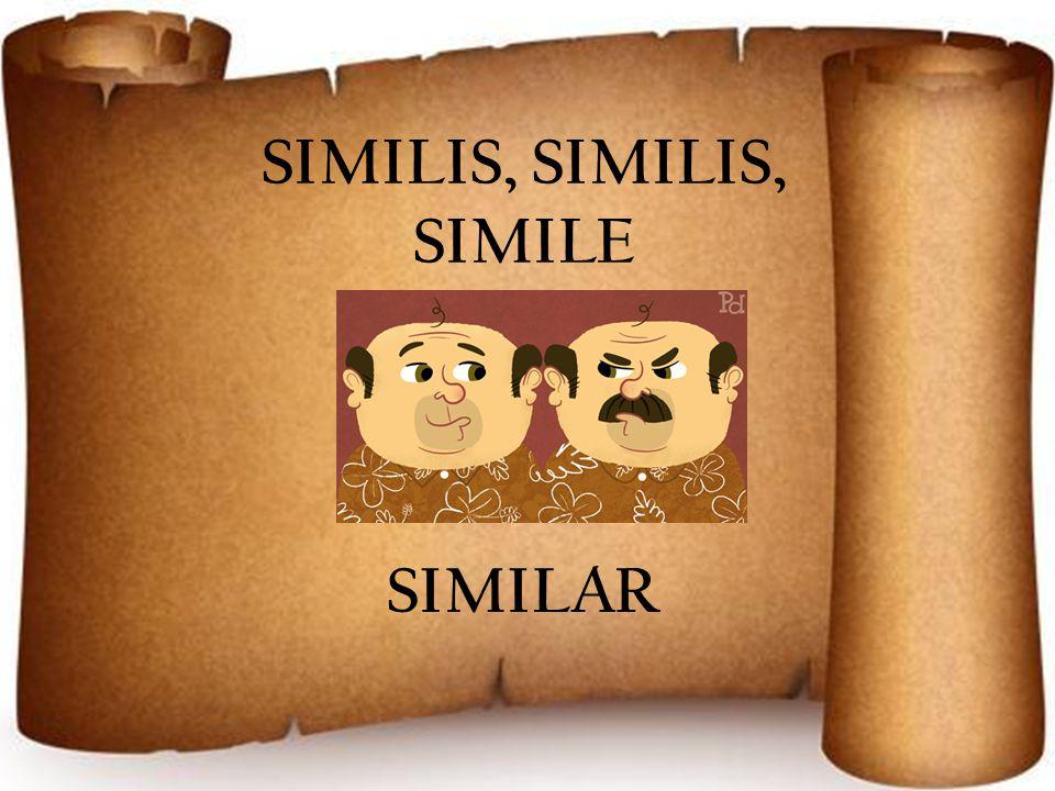 SIMILIS, SIMILIS, SIMILE SIMILAR