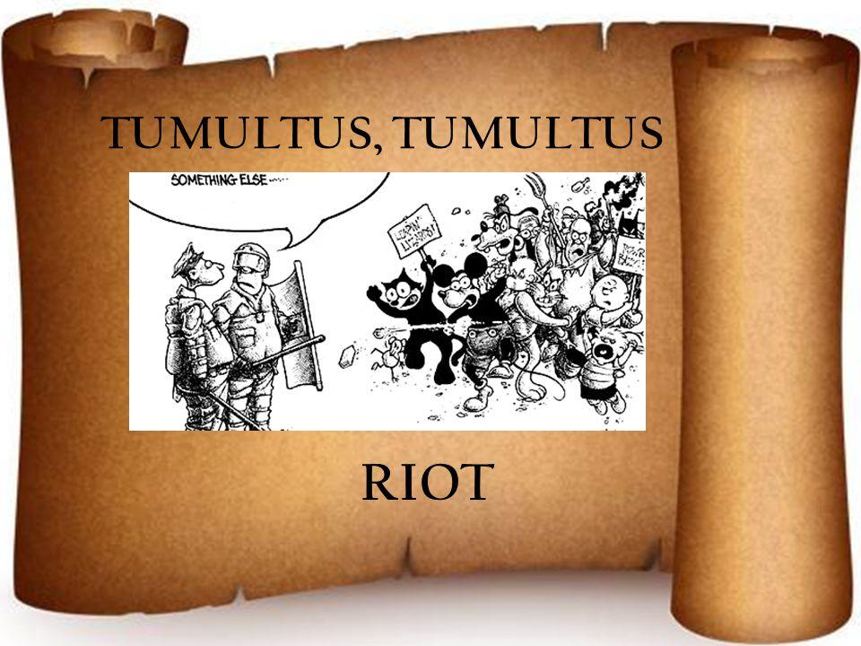 TUMULTUS, TUMULTUS RIOT