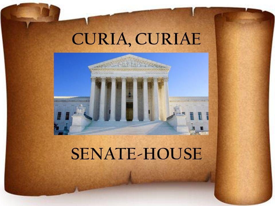 CURIA, CURIAE SENATE-HOUSE