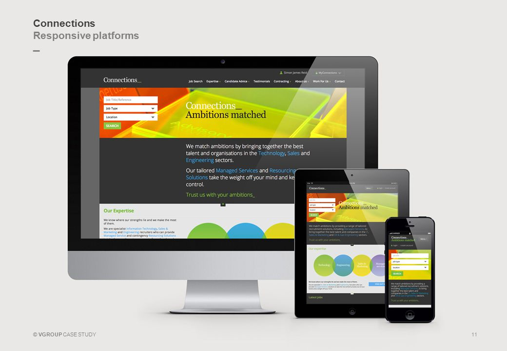 _ © VGROUP CASE STUDY Connections Responsive platforms 11