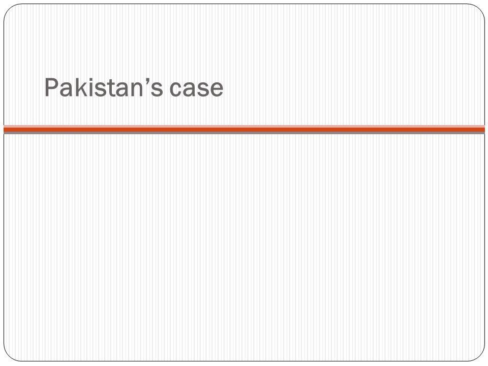 Pakistan's case