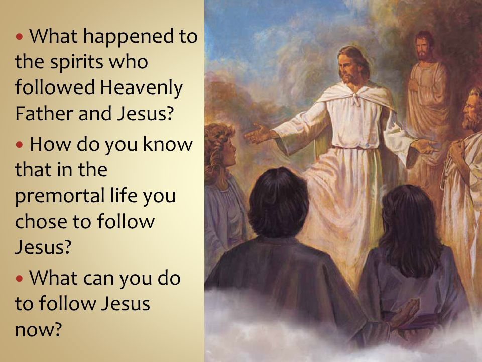 What happened to the spirits who followed Heavenly Father and Jesus.