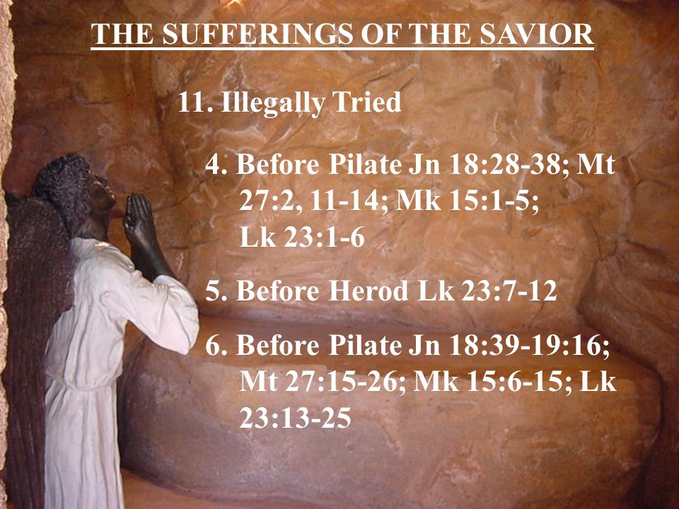 THE SUFFERINGS OF THE SAVIOR 11. Illegally Tried 4.