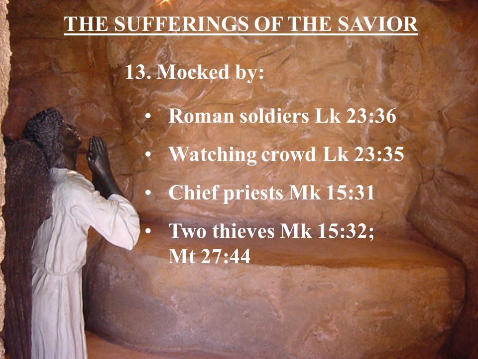 THE SUFFERINGS OF THE SAVIOR 13.