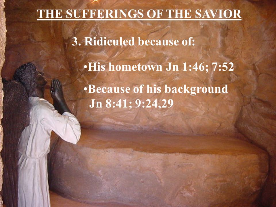 THE SUFFERINGS OF THE SAVIOR 3.