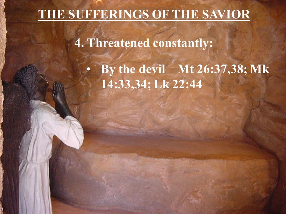 THE SUFFERINGS OF THE SAVIOR 5. Homeless Mt 8:20