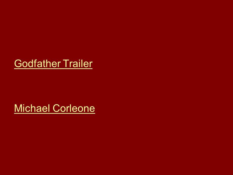 Godfather Trailer Michael Corleone