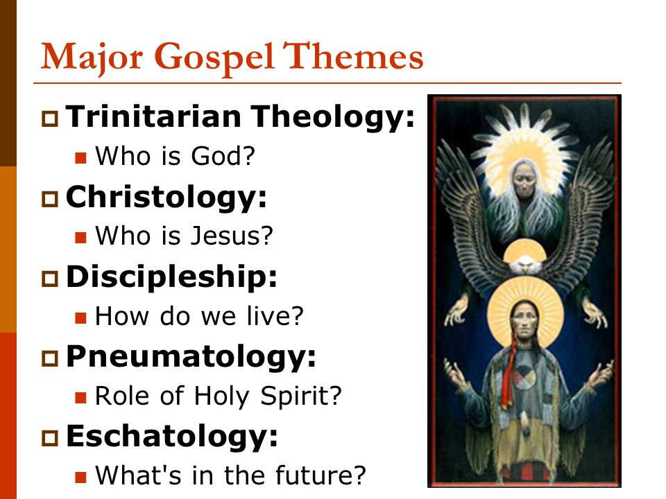 Christology in the Four Gospels  Mark: Son of God (powerful) Son of Man (crucified)  Matthew: King (Son of David) Teacher (like Moses)  Luke: Lord (of ALL nations) Savior (esp.