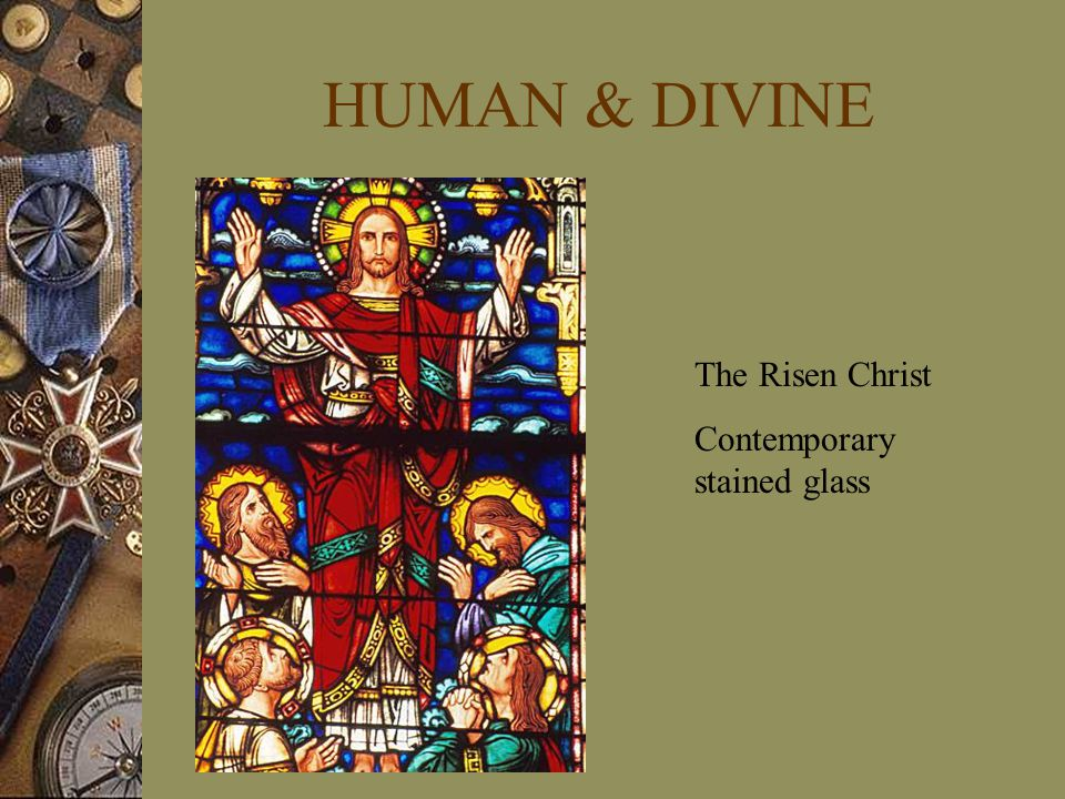 HUMAN & DIVINE The Risen Christ Contemporary stained glass