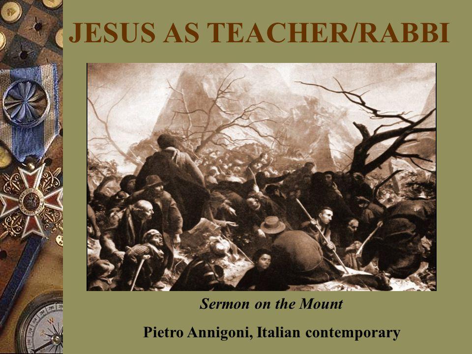 JESUS AS TEACHER/RABBI Sermon on the Mount Pietro Annigoni, Italian contemporary