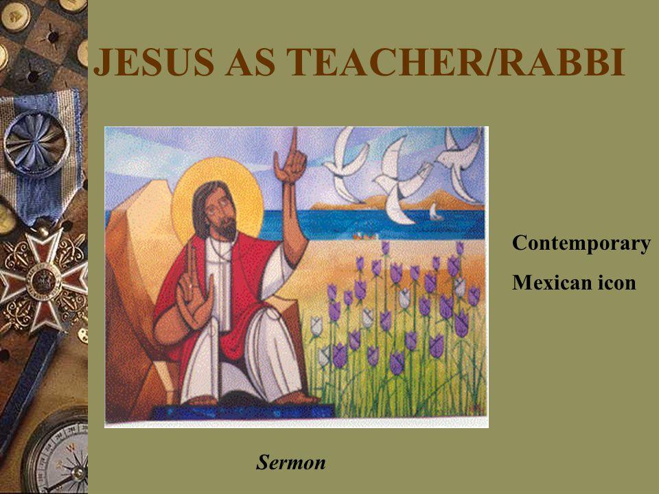 JESUS AS TEACHER/RABBI Sermon Contemporary Mexican icon
