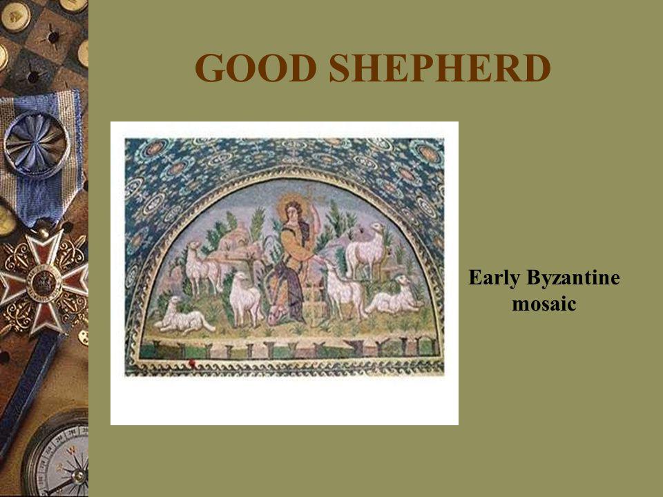 GOOD SHEPHERD Early Byzantine mosaic