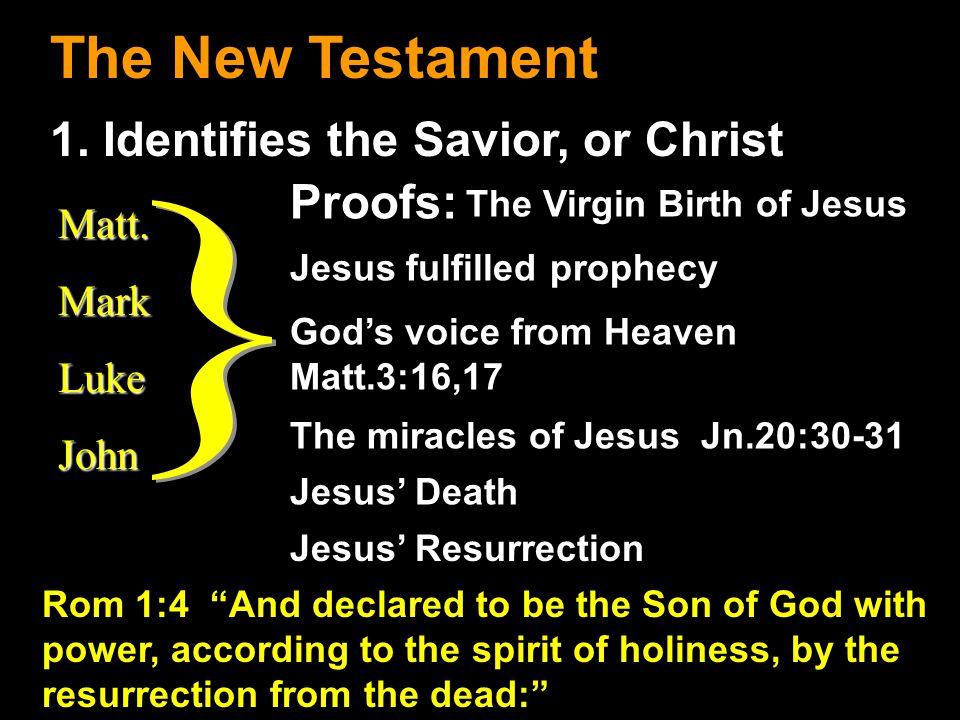 The New Testament 1.