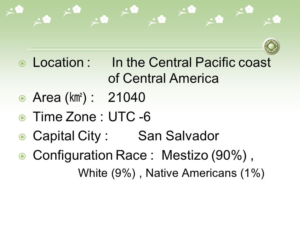 El Salvador Mike Lee Evan Jun Location In The Central Pacific - Central america time zone
