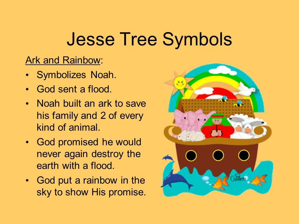 Jesse Tree Symbols Star: Symbolizes Abraham.God chose him to be the father of the Jewish people.