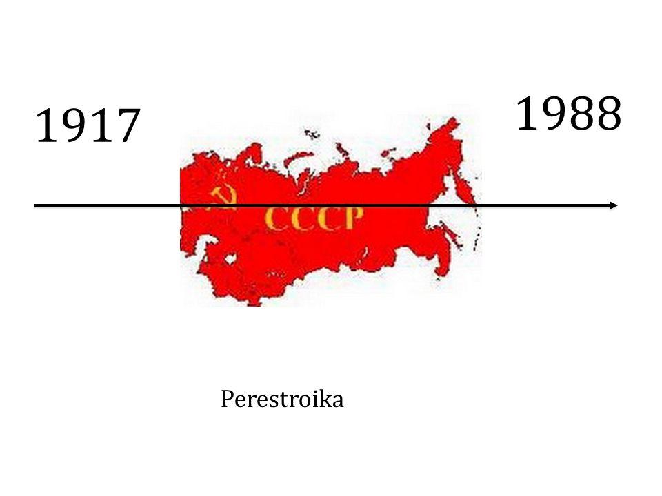 1917 1988 Perestroika