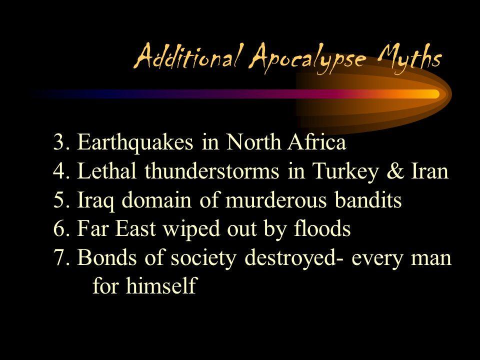 Additional Apocalypse Myths 2. Epidemic in Jedda, famine in Medina, plague in Mecca