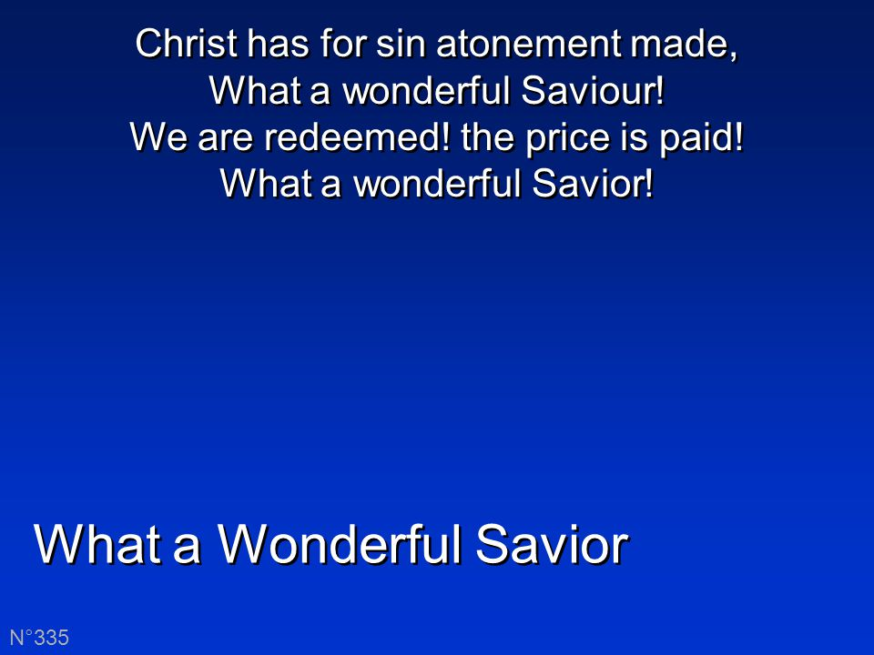 What a wonderful Savior is Jesus, my Jesus! What a wonderful Savior is Jesus, my Lord!