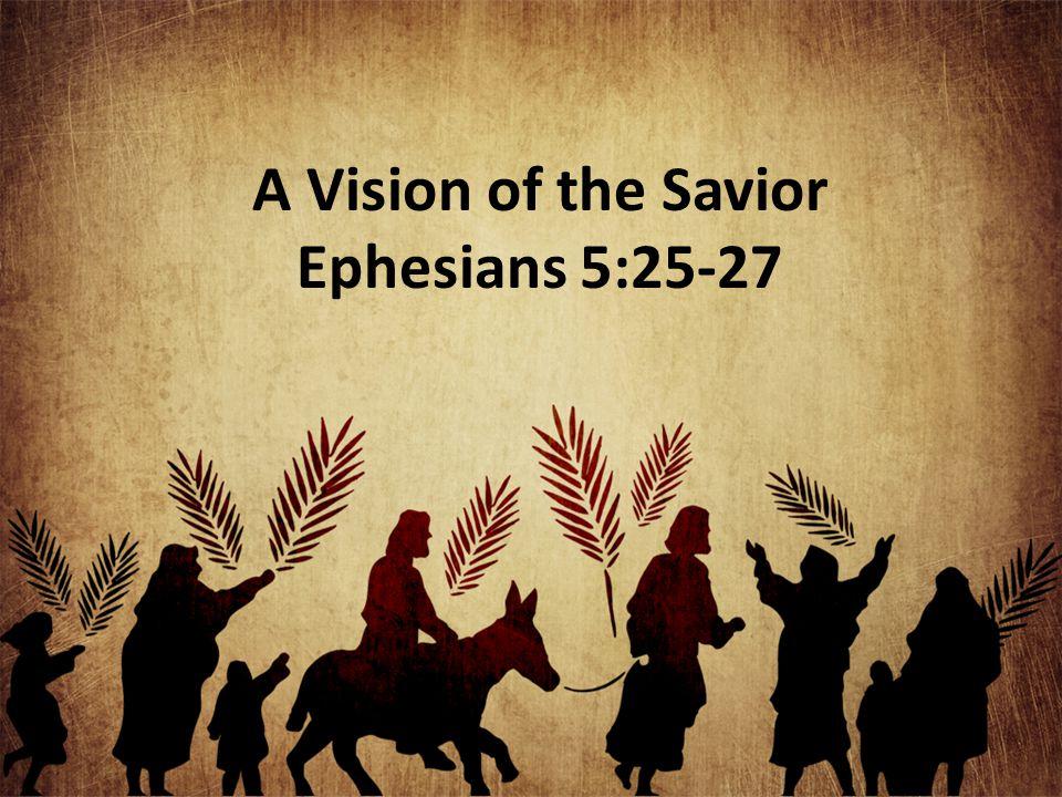 A Vision of the Savior Ephesians 5:25-27