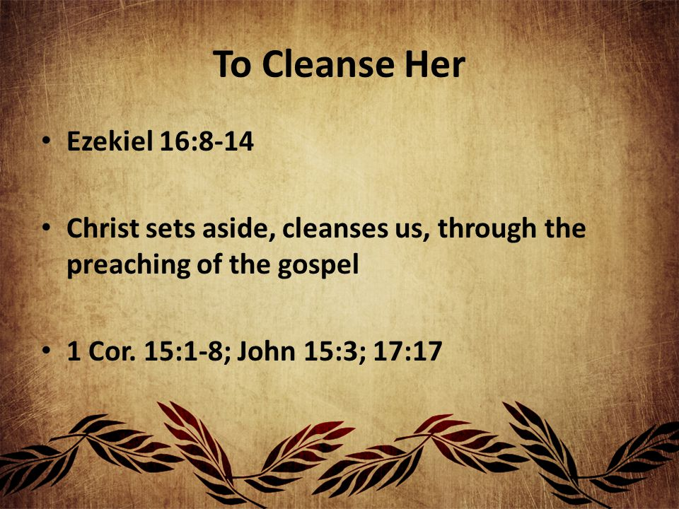 To Present Her To Himself He is preparing a bride by Himself to present to Himself Esther 2:8-9; 12 Someday she will be a beautiful present for the Lord (Rev.