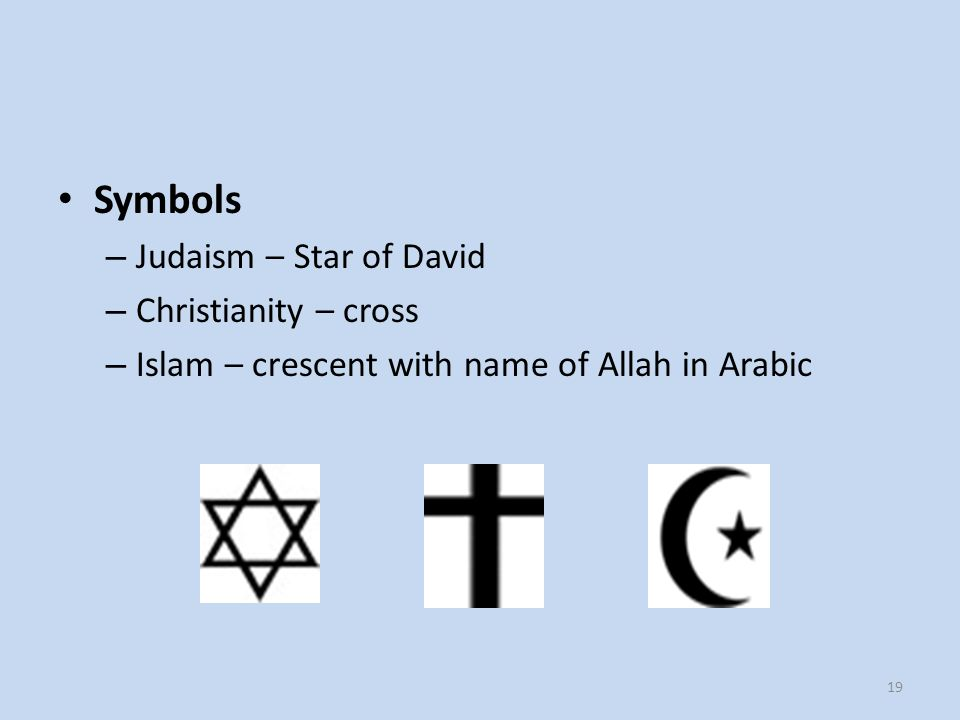 View of Fellow Abrahamic Religions – Judaism – Islam and Christianity are false interpretations and extensions of Judaism. – Christianity – Judaism is a true religion, but with incomplete revelation.