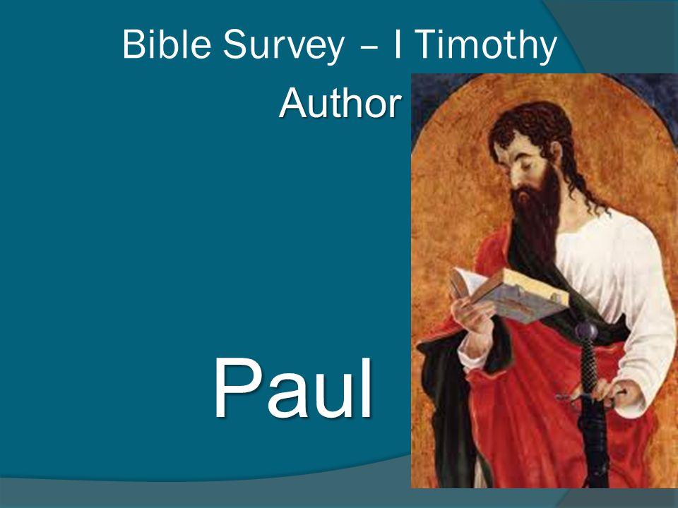 Author Paul