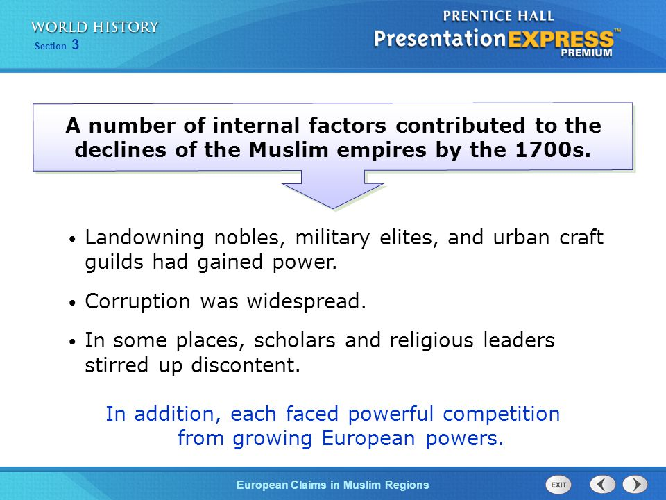 European Claims in Muslim Regions Section 3 The Safavid empire also fell under outside influence.