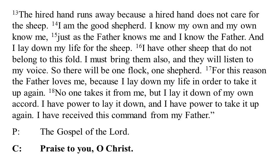 13 The hired hand runs away because a hired hand does not care for the sheep.