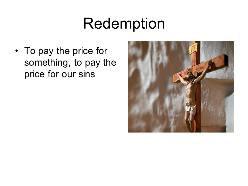 Atonement Reparation for sin