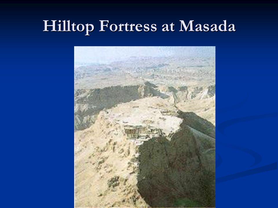 Hilltop Fortress at Masada