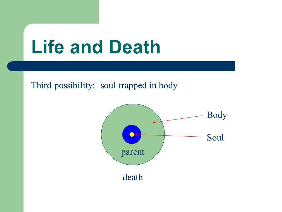 Life and Death parent death Body Soul Catholic proposal: soul and body in union