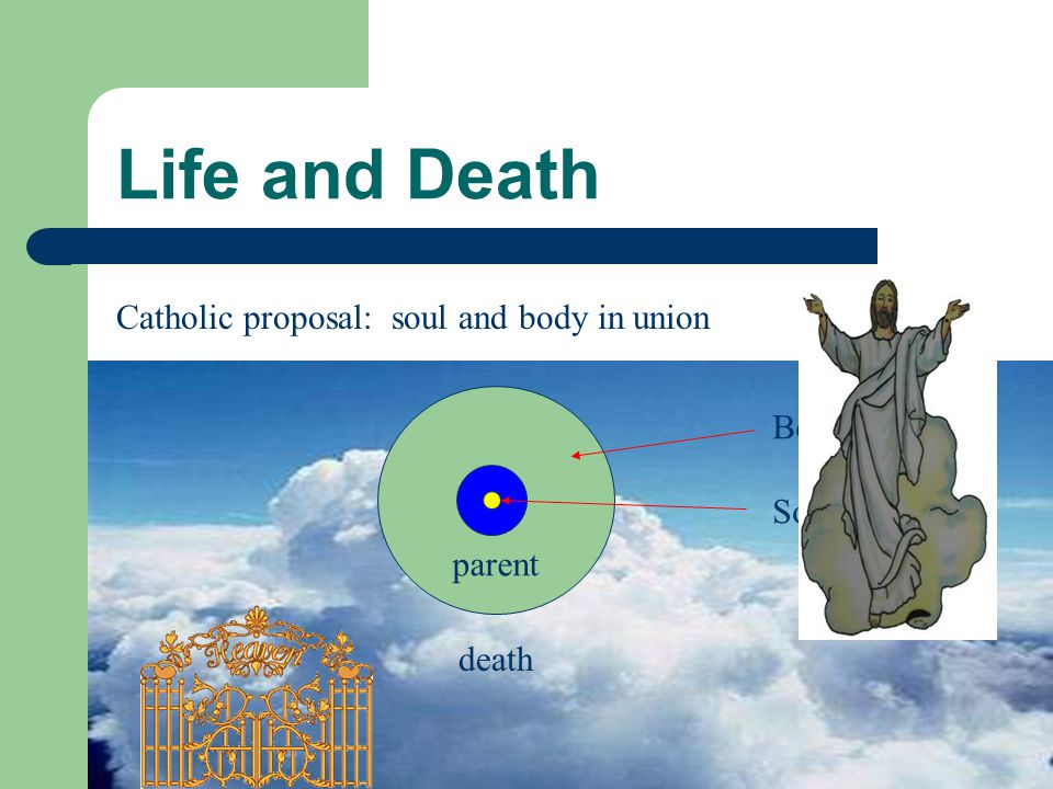 Life and Death In heaven, the human body and soul will be reunited in new life.