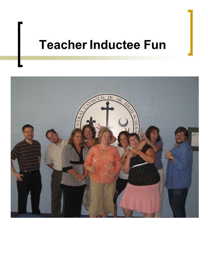 Teacher Inductee Fun