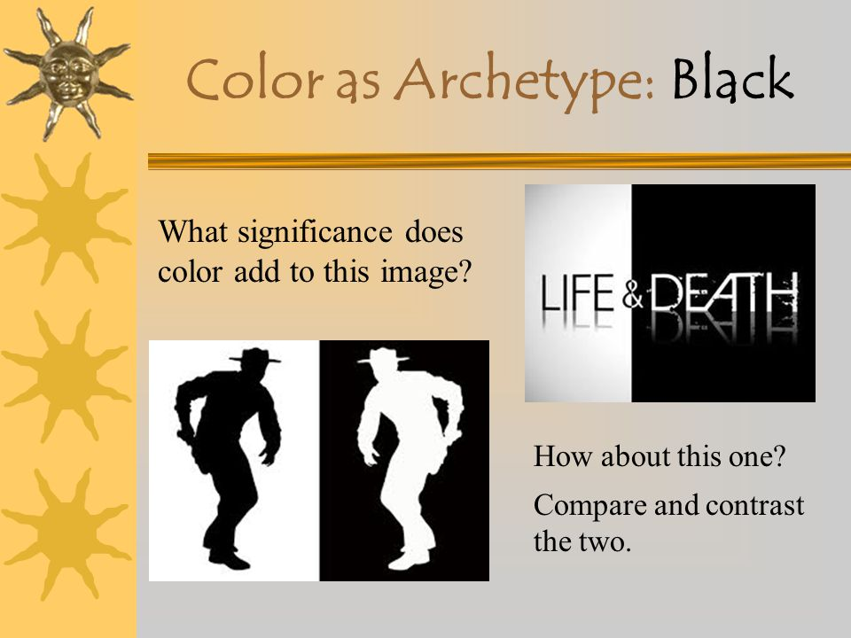 Color as Archetype: Black X Darkness— associated with –Chaos –Mystery –Death –The Unknown –The Unconscious What other messages do colors convey in thi
