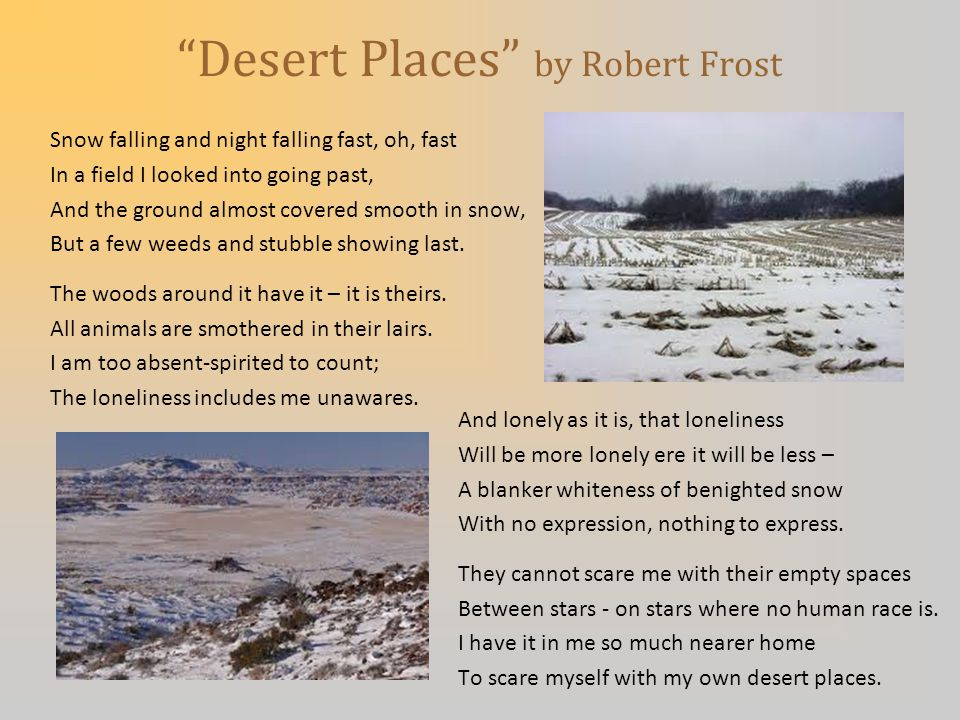 The Desert X Emptiness X Spiritual aridity (dryness) X Hopelessness (wasteland)