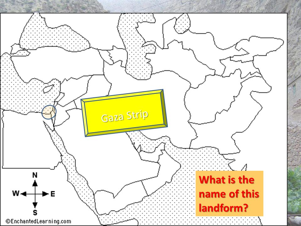What is the name of this landform? Gaza Strip