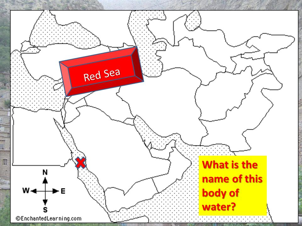 What is the name of this body of water? Red Sea