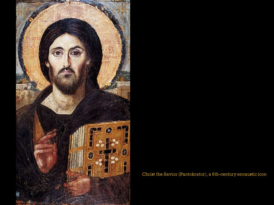 Christ the Savior (Pantokrator), a 6th-century encaustic icon