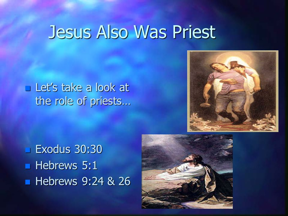A: As the Prophet, Jesus came to tell the good news about himself, that he was the Savior of the world. His being the Prophet depended on his fulfilli