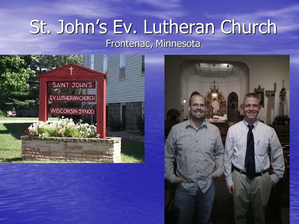 St. John's Ev. Lutheran Church Frontenac, Minnesota