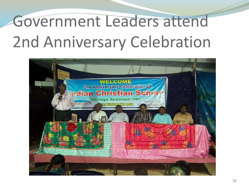30 Government Leaders attend 2nd Anniversary Celebration