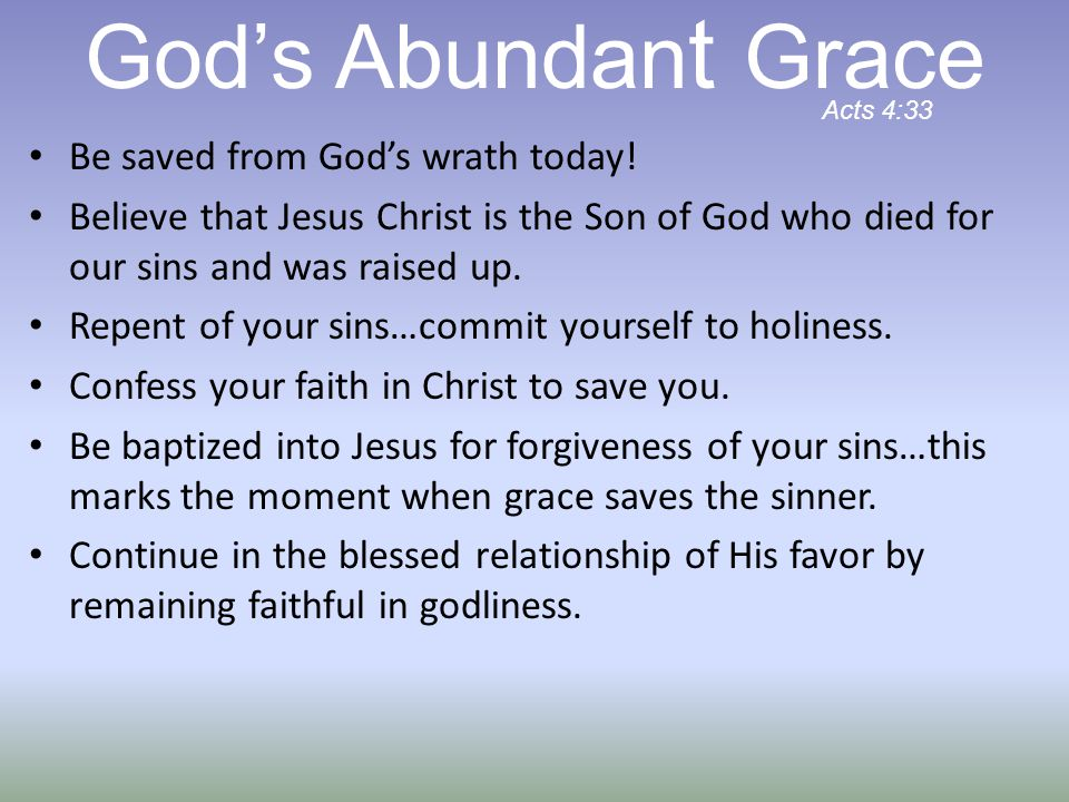Be saved from God's wrath today.