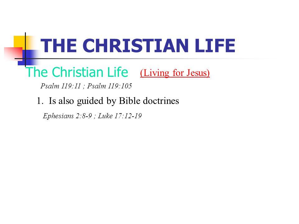 THE CHRISTIAN LIFE The Christian Life 1.