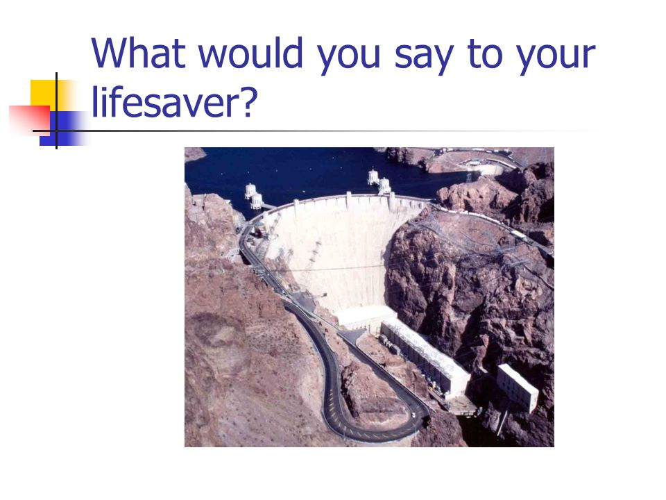What would you say to your lifesaver