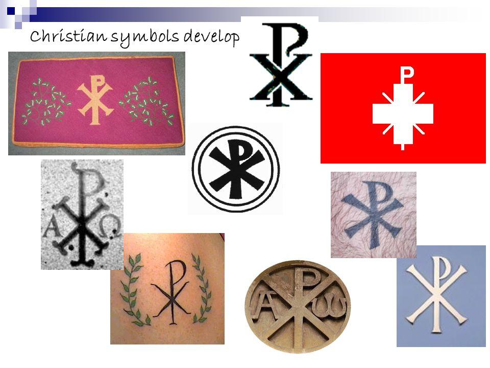Christian symbols develop...