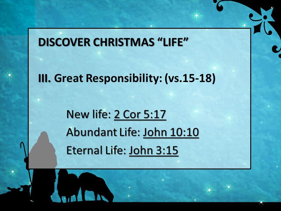 DISCOVER CHRISTMAS LIFE III. III.