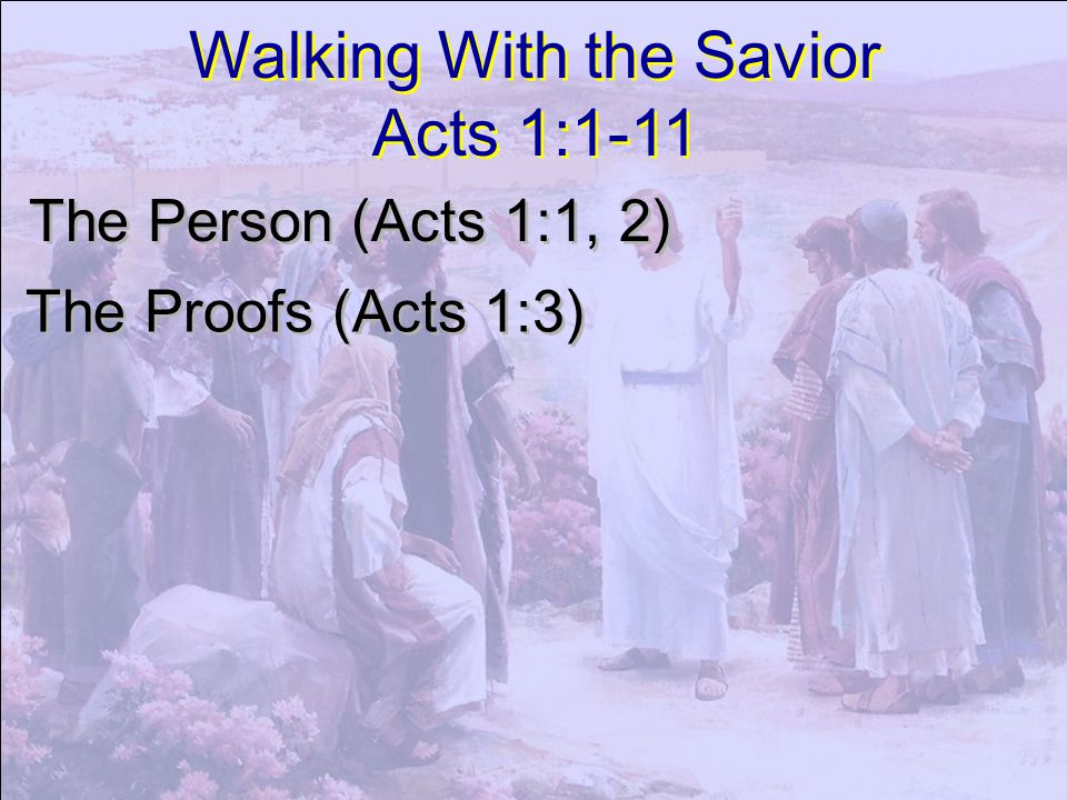 To whom also he shewed himself alive after his passion by many infallible proofs, being seen of them forty days, and speaking of the things pertaining to the kingdom of God: Acts 1:3