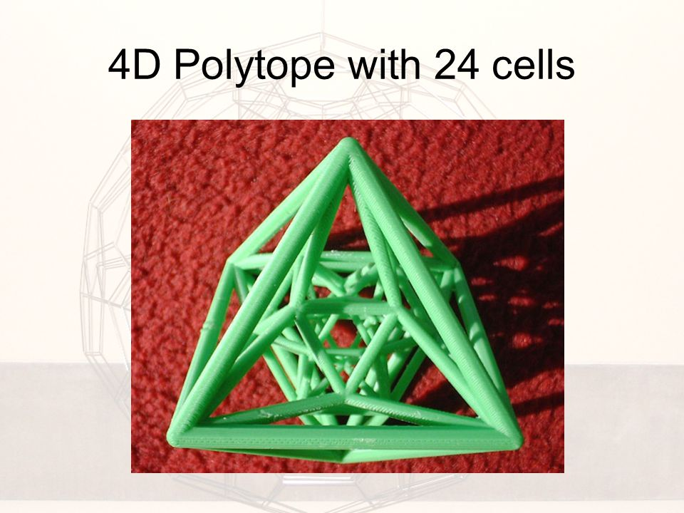 4D Polytope with 24 cells